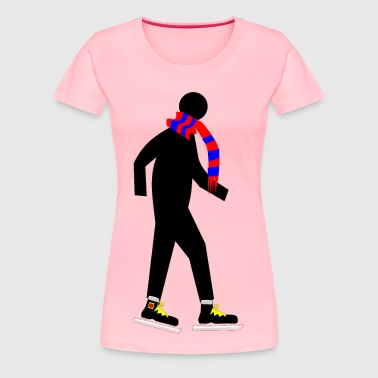 Skater with Scarf - Women's Premium T-Shirt