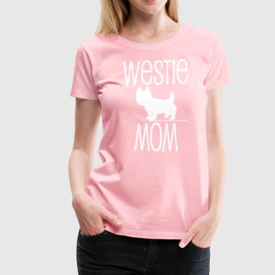 Westie Mom - White Ink, Pink Ink - Women's Premium T-Shirt