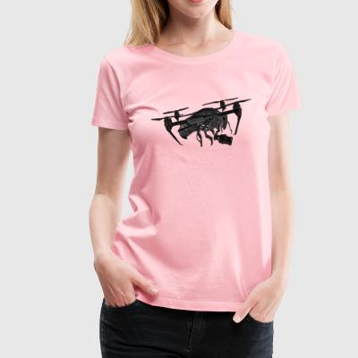 Drone Pilot's Drone In Black - Women's Premium T-Shirt