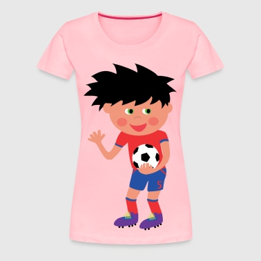 Football Kid - Women's Premium T-Shirt