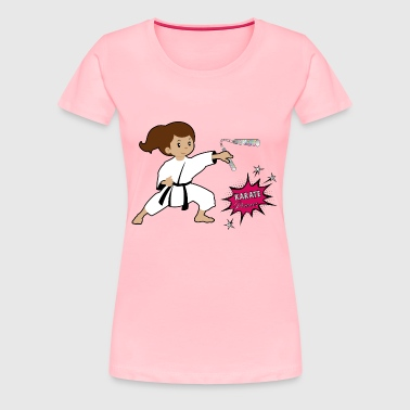 Karate princess with silver nunchaku - Women's Premium T-Shirt