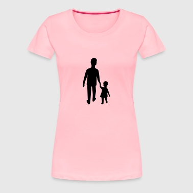 Father and son - Women's Premium T-Shirt