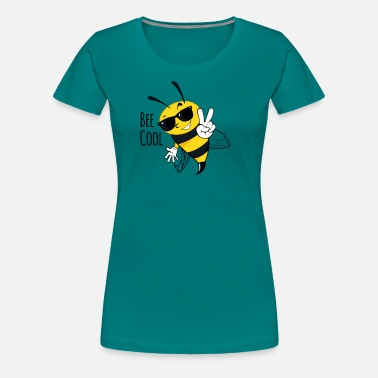 Bumble Bee Bee Cool, Bee, Insect, Bumble Bee - Women's Premium T-Shirt