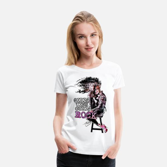 Afro T-Shirts - Girls with Curls - Women's Premium T-Shirt white