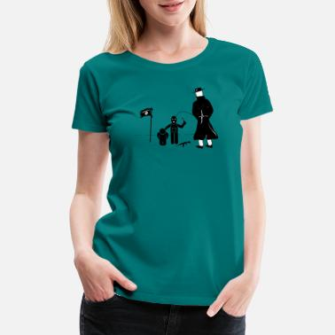 Islam Pissing Man against terrorism - Women's Premium T-Shirt