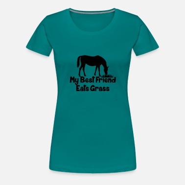 Funny Saying Funny Horse Quote - Women's Premium T-Shirt