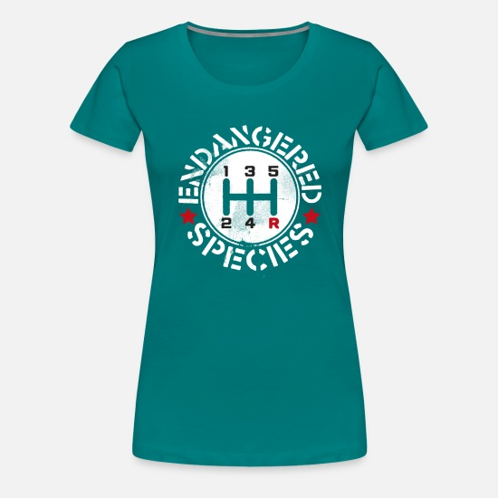 Vintage T-Shirts - Save The Manuals - Women's Premium T-Shirt teal
