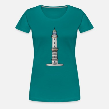 Maritime Lighthouse Warnemünde Rostock - Women's Premium T-Shirt