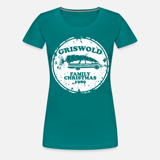 Christmas Vacation Shirts.Griswold Christmas Vacation Women S Premium T Shirt Kelly Green