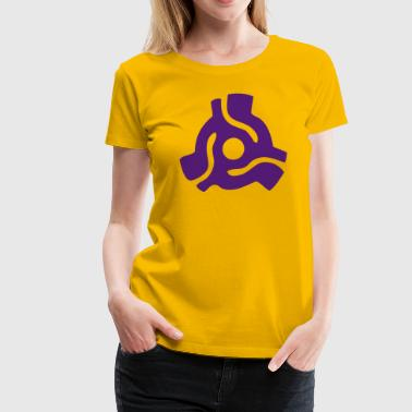 45 rpm vinyl adapter - Women's Premium T-Shirt