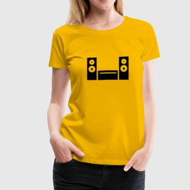 Hifi icon - Women's Premium T-Shirt