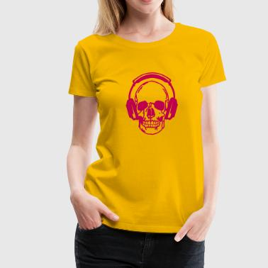 dj headphone audio skull 3 equalizer - Women's Premium T-Shirt