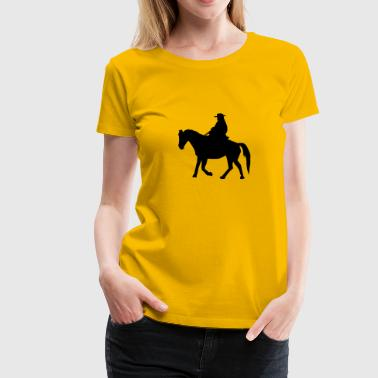 Working Cowboy - Women's Premium T-Shirt