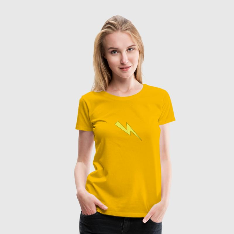 Lightning yellow with bla - Women's Premium T-Shirt