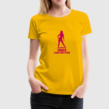 under construction bodybuilding fitness - Women's Premium T-Shirt