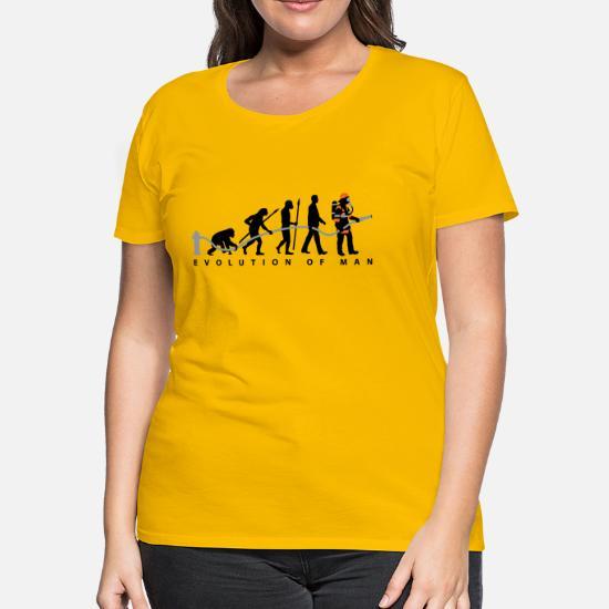 08d2373f0 Fire Fighter T-Shirts - evolution of man firefighter - Women's Premium T- Shirt
