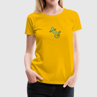 Lizard Design Funky Lizard - Women's Premium T-Shirt