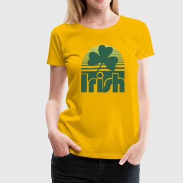 Irish Retro Clover - Women's Premium T-Shirt