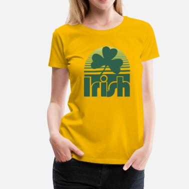 Retro Irish Irish Retro Clover - Women's Premium T-Shirt