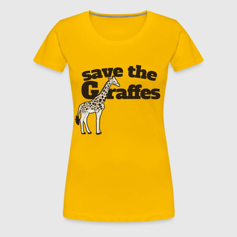 Save the Giraffes - Women's Premium T-Shirt