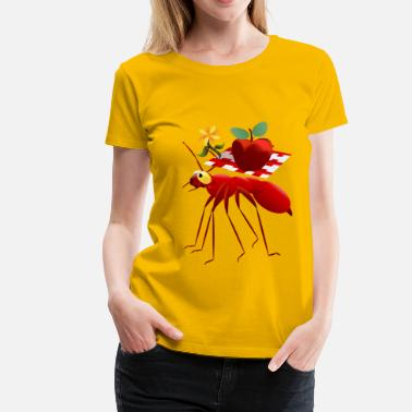 Picnic Fire Ant and Picnic Apple - Women's Premium T-Shirt
