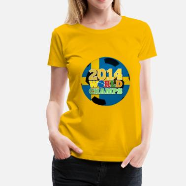 Sweden Australia 2014 World Champs Ball - Sweden - Women's Premium T-Shirt