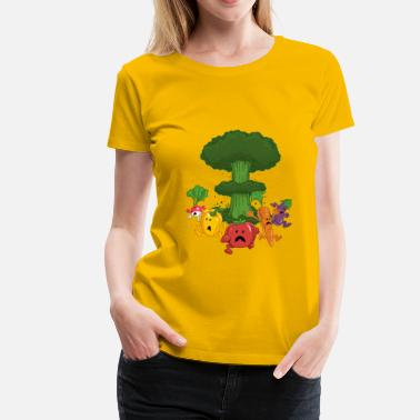 Funny Food Vegetable Armageddon - Women's Premium T-Shirt