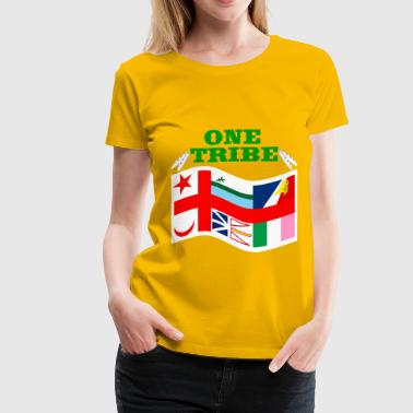 WE ARE ONE TRIBE ONE PROUD PEOPLE  - Women's Premium T-Shirt