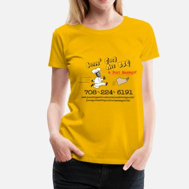 Viral Jones Good Ass BBQ and Foot Massage logo - Women's Premium T-Shirt