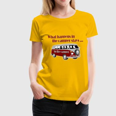 What happens in the camper - Women's Premium T-Shirt