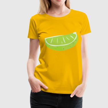 Lime Lime Wedge - Women's Premium T-Shirt