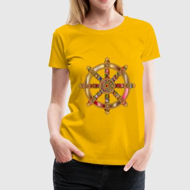 Prismatic Ornate Dharma Wheel 4 - Women's Premium T-Shirt