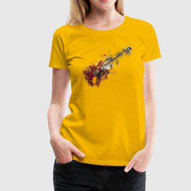 Splatter paint guitar music - Women's Premium T-Shirt