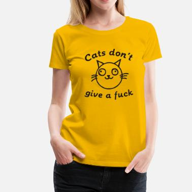 Fuck Fuck Religion cats dont give a fuck - Women's Premium T-Shirt