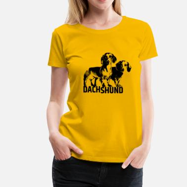 Dashi Dachshund dog  - Doxie - Women's Premium T-Shirt