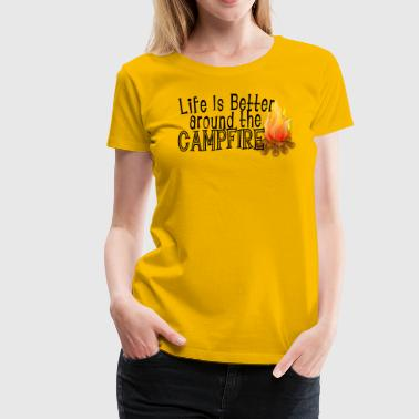 Campfire Campfire Saying - Women's Premium T-Shirt