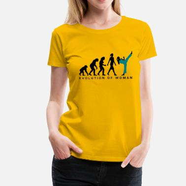 Female Karate Evolution evolution_female_martial_art_112014_b_2c - Women's Premium T-Shirt