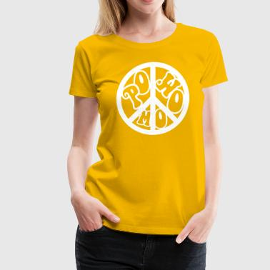 powomo peace sign logo - Women's Premium T-Shirt