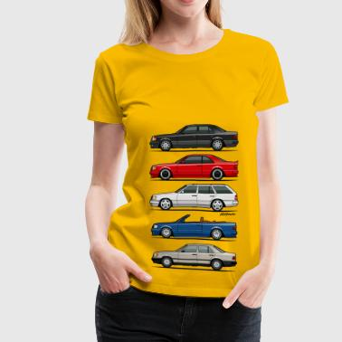 Stack of Mercedes W124 E-Class - Women's Premium T-Shirt