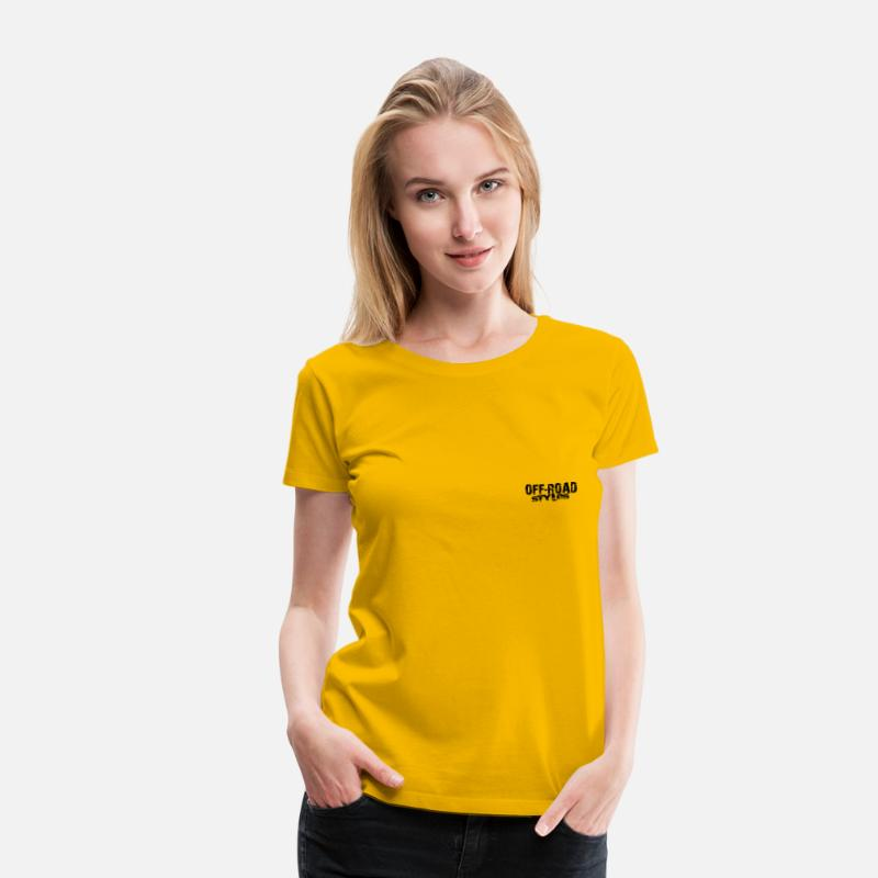 Utv T-Shirts - Extreme Off-Road Racing - Women's Premium T-Shirt sun yellow