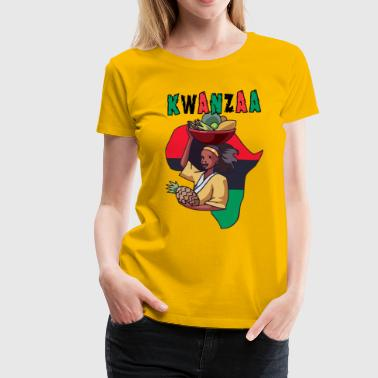 Happy Kwanzaa Black African American Holiday  - Women's Premium T-Shirt