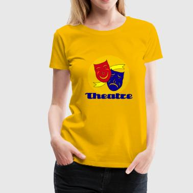 Theatre Mask - Women's Premium T-Shirt