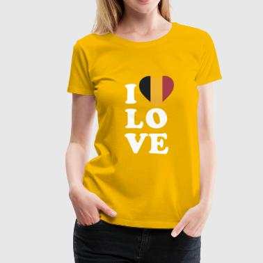 I-love-belgique I love Belgium - Women's Premium T-Shirt