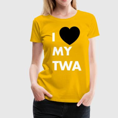 I love my twa - Women's Premium T-Shirt