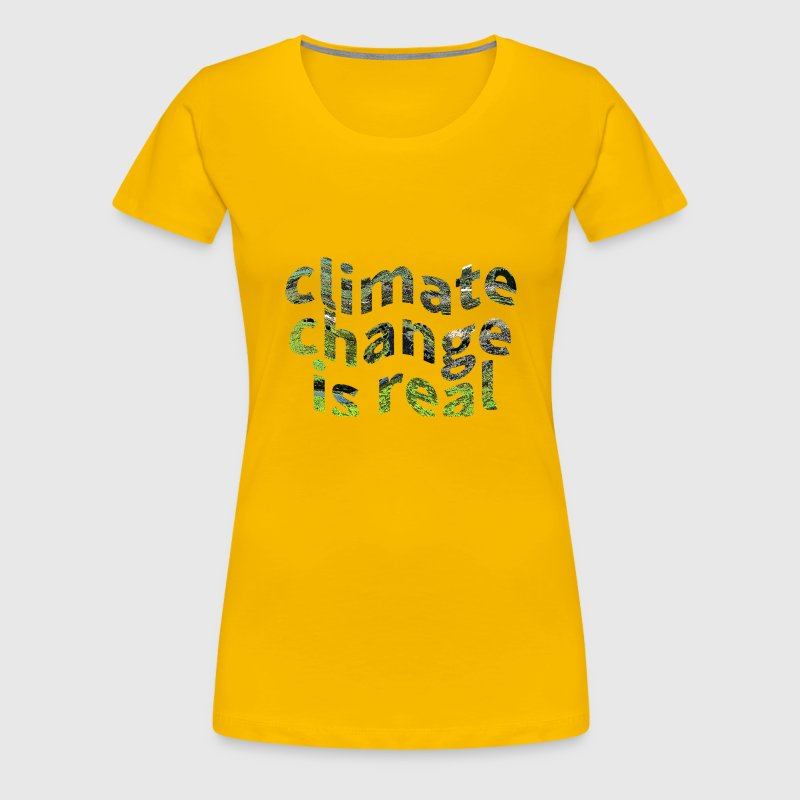 Global Warming Climate Change Protest  - Women's Premium T-Shirt