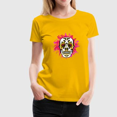 Red-mexican mexican skull white red - Women's Premium T-Shirt