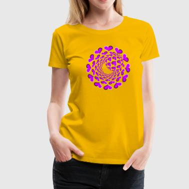 3D Optical Illusion 02R - Women's Premium T-Shirt