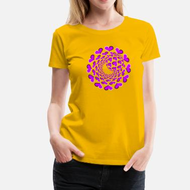Optical 3d 3D Optical Illusion 02R - Women's Premium T-Shirt