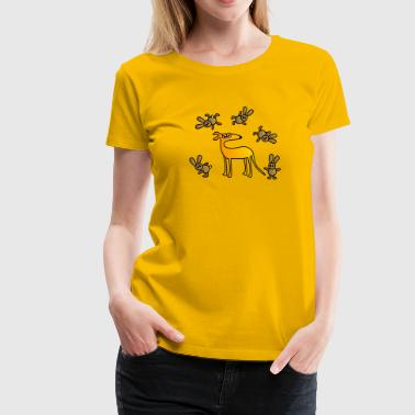 sighthound and hares - Women's Premium T-Shirt