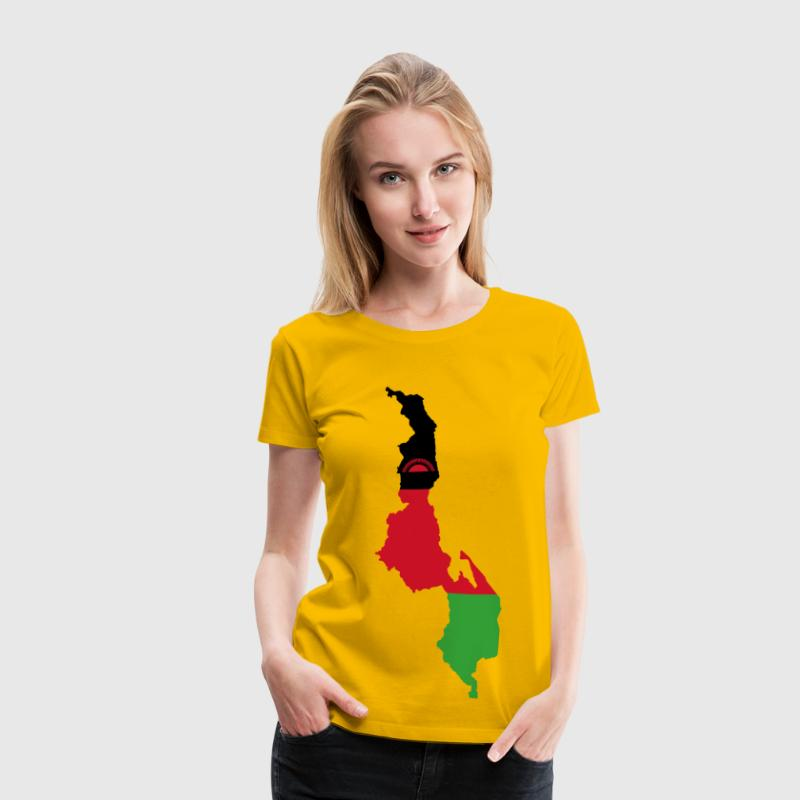 Malawi Flag Map - Women's Premium T-Shirt
